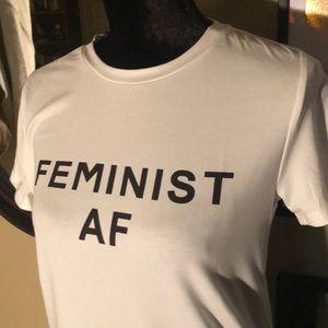 Aluna Levi Tops - FEMINIST A F TEE